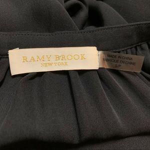 Ramy Brook Tops - Ramy Brook Black Silk Crochet Sleeve S